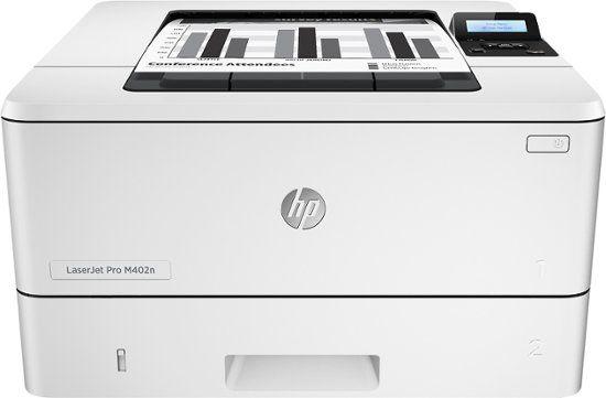 Hp Laserjet Pro M402n Black And White Printer Gray Front Zoom With Images Black And White Printer