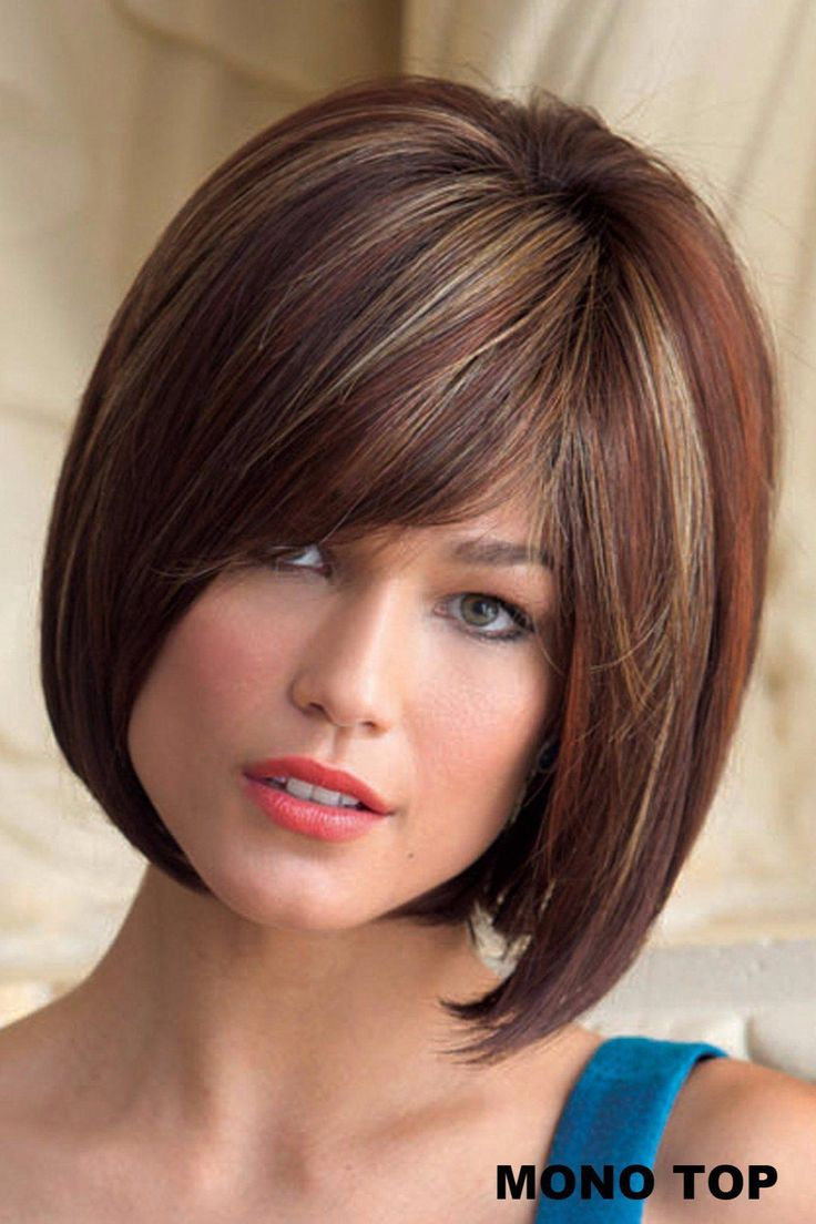 Wig features: Monofilament Top Modern bob wig perfectly layered with texture and volume. Noriko combines a hand-tied top with monofilament constructio...