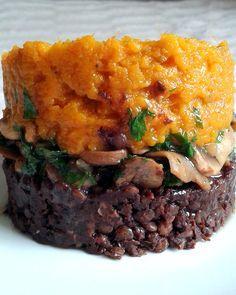 parmentier patate douce champignons lentilles vegan sans gluten