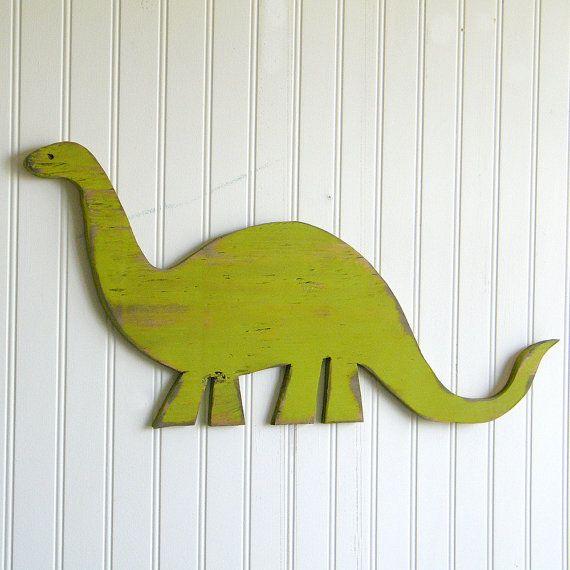 Epic Brachiosaurus Medium Dinosaur Sign Childrens Room Decor Nursery Dino Wall Art Key Lime Green