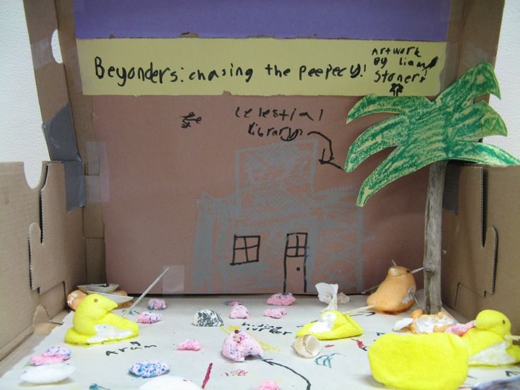 'Beyonders: Chasing the Peepecy' by Liam, age 8  / Missoula Public Library Peeps Show 2017 contest entry