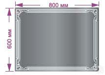 Зеркало «Альфа» (с рисунком и сенсорной подсветкой). Настенные зеркала со светодиодами.<br />Размеры: 600 х 800 мм