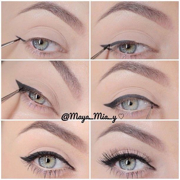 .@maya_mia_y | How to apply eyeliner I use Mac Fluidline Blacktrack And a Mac 210 Eyeliner... | Webstagram - the best Instagram viewer
