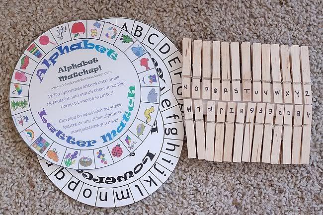 A-Z clothespin cards