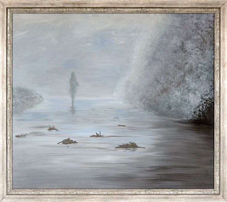 The «Misty morning» - is a rare example of romantic painting. It can be a good gift for a real connoisseur of this art style.