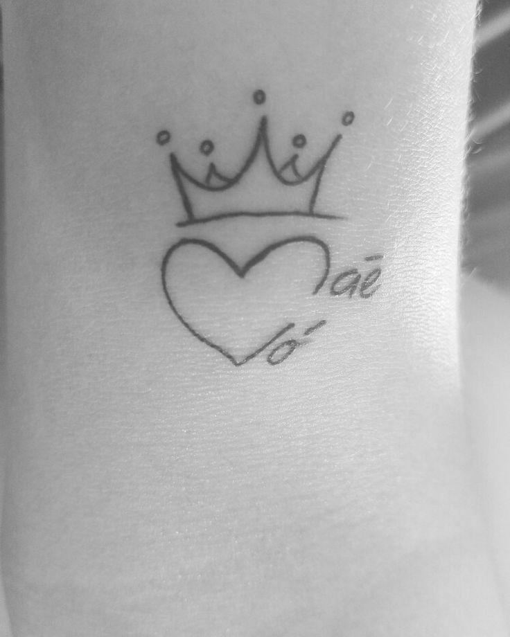 Tatuagem Coração Mãe e Vó