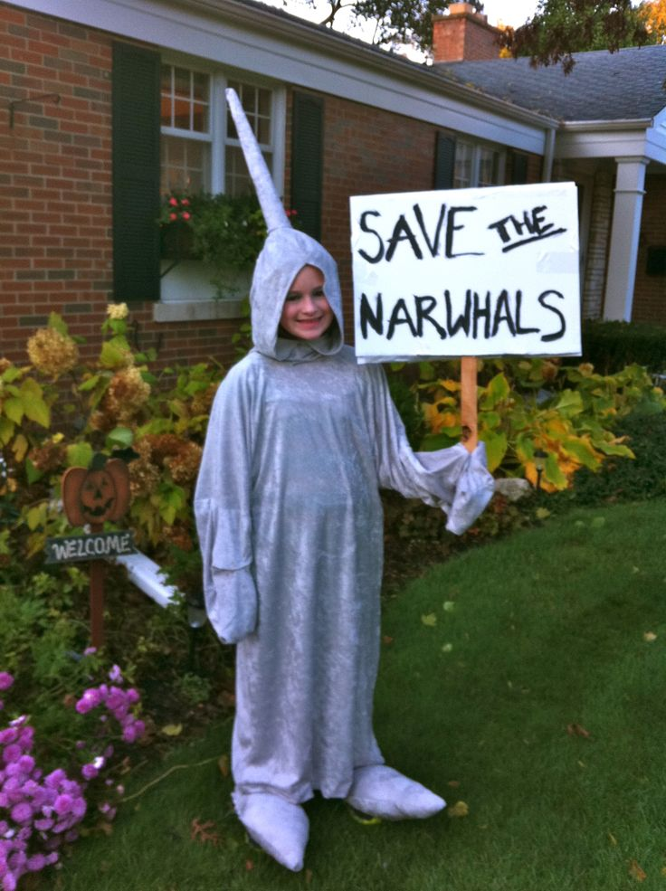 from previous pinner:  My homemade narwhal costume from Halloween!
