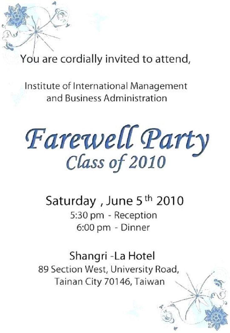 Abschiedsfeier Zur Begrussung Farewell Parties Farewell Party