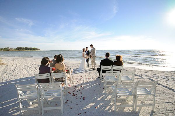 Beach Elopement: Jade & Trey's Longboat Key Sunset Beach Wedding: $1250 for location, ceremony, officiant, music.