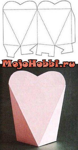 Бонбоньерки из бумаги сердце