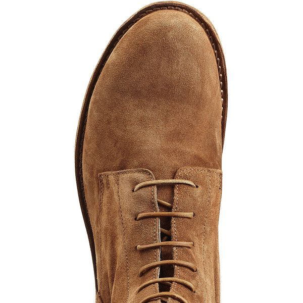 Officine Creative Suede Ankle Boots ($400) ❤ liked on Polyvore featuring men's fashion, men's shoes, men's boots, men, mens brown shoes, mens suede boots, mens suede shoes, ankle boots mens shoes and mens suede ankle boots