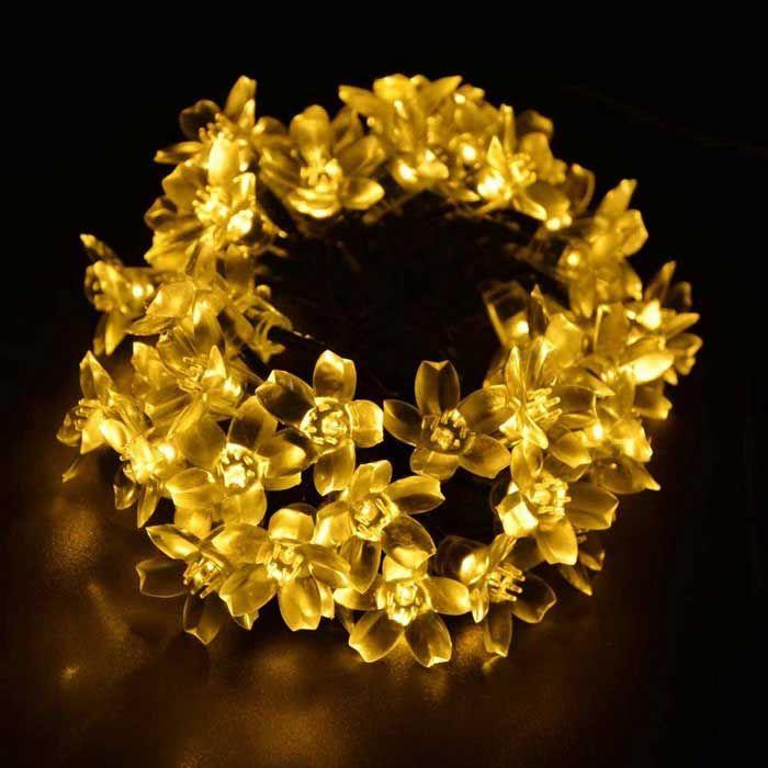 Outdoors & Indoor Flower Starry String Lights 33ft 80LED Decorative Light for Christmas Tree,Garden