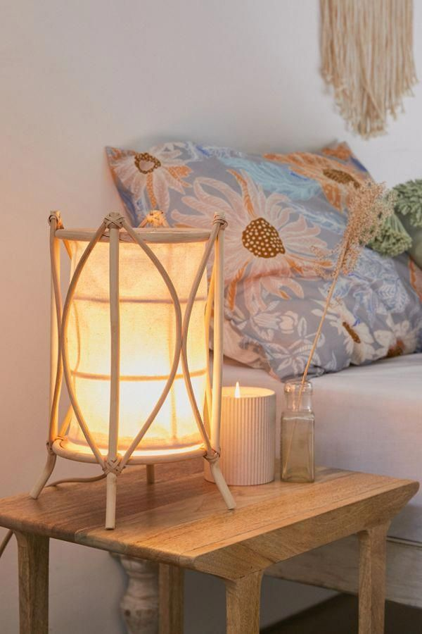 Slide View 1 Rattan Lantern Table Lamp Homedecorideasdiy In 2019 Lantern Lamp Room Lamp Rattan Lamp