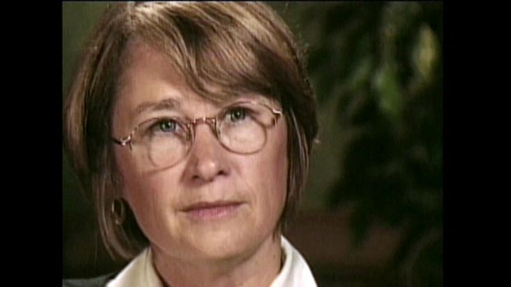 A 1999 photo of Patty Wetterling during an interview
