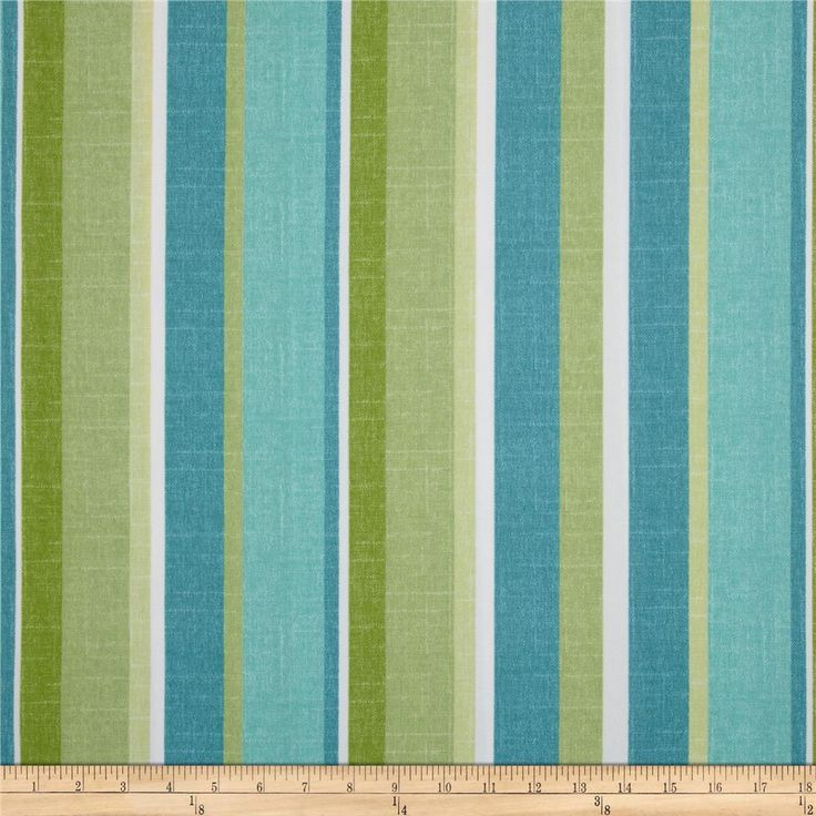 Maco Indoor/Outdoor Mila Stripe Aloe from @fabricdotcom  Screen printed on polyester, this fabric holds up to 500 hours of sunlight exposure, resists stains and is water resistant.  Create decorative place mats, cushions, chair pads, deck chairs, toss pillows, tote bags and some upholstery. To maintain the life of the fabric bring indoors when not in use, this fabric can easily be cleaned by wiping down the fabric or hand washing with warm water and a mild soap solution. Colors include teal…
