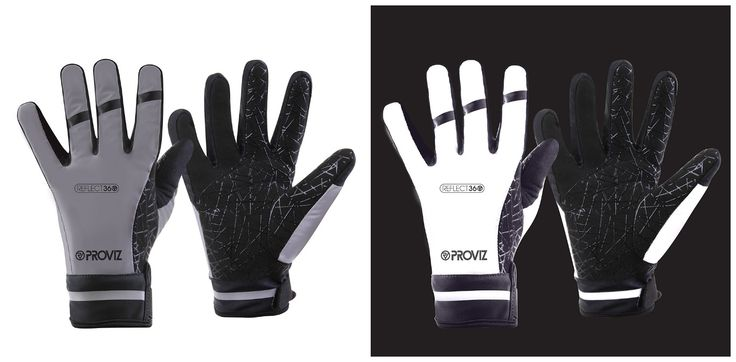 Reflect360 Cycling Gloves all-weather REFLECT360 cycling gloves are manufactured using a 100% reflective outer shell to give you an extra reflective item at night. Padded palms help to give enhanced comfort & the silicone web grip gives great grip, especially when it's raining.  Underneath the reflective outer layer there is an internal waterproof polyurethane layer made from a Korean Hipora insert. Korean Hipora consists of a 3-layer microporous silicone coating structure.