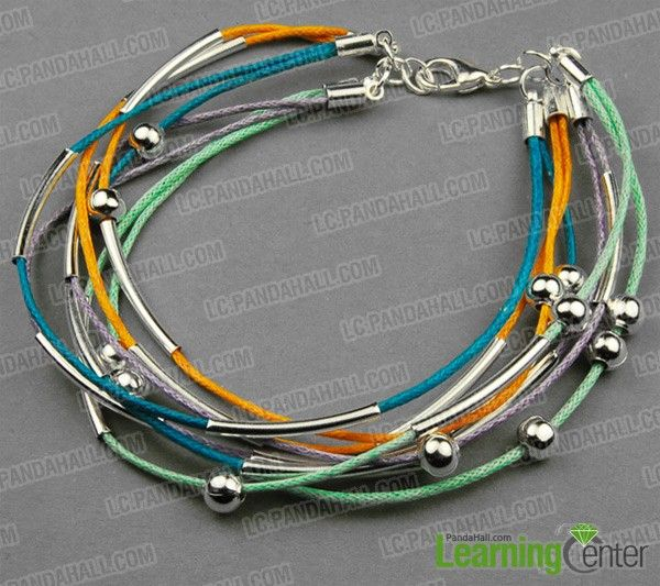 How to make a bracelet out of Cotton wax cord- cool bracelets for teenage guys - Pandahall.com