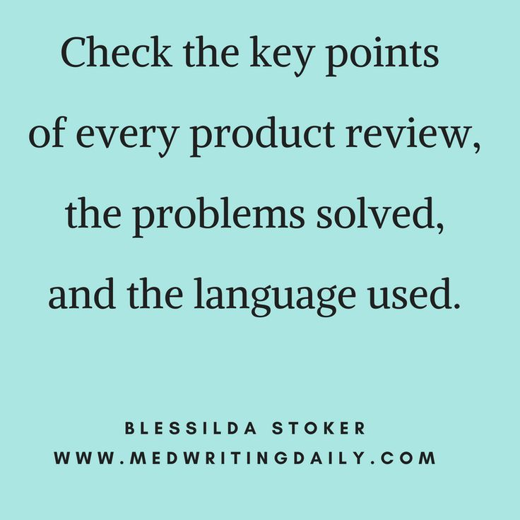 Get a certain amount of information from social networks.   Search for user reviews. And you'll know which related products are valuable.   Check the key points of every product review, the problems solved, and the language used.   #copywriter #healthcare #medical #marketing