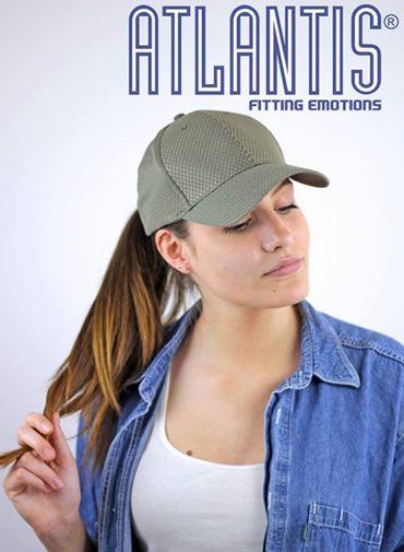 Name: SPACE OLIVE  100% polyester mesh  traspirant mesh and velcro strap closure  #atlantis #infinite #headwear #caps #hats #fashion #girls #b2b