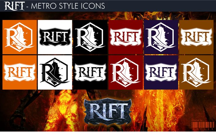 RIFT - Metro Style Icons by xmilek.deviantart.com on @deviantART