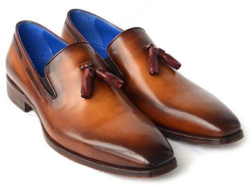 Shop. Save. Breathe. - PAUL PARKMAN Men's Tassel Loafer Walnut Leather Sole Leather Upper