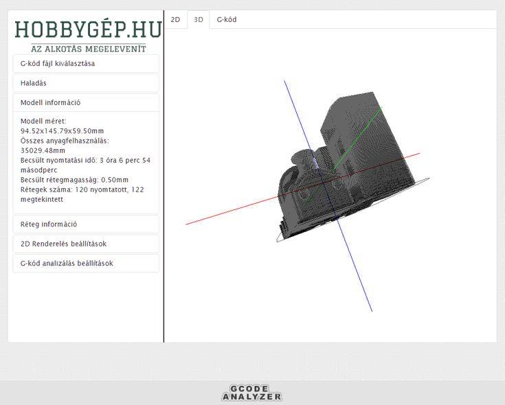 hobbygep.hu - G-kód megtekintő - Gcode viewer
