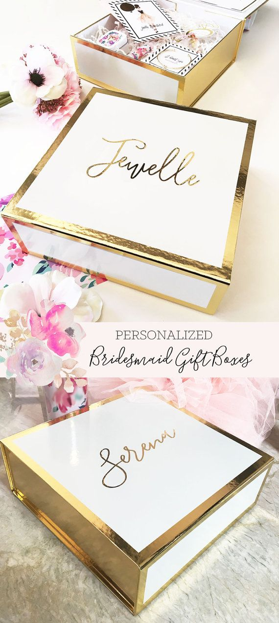 Bridesmaid Box Personalized Bridesmaid Gift Box by ModParty