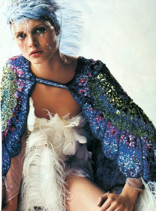 ... a beautiful sequin butterfly wing cape ...for my future MIL