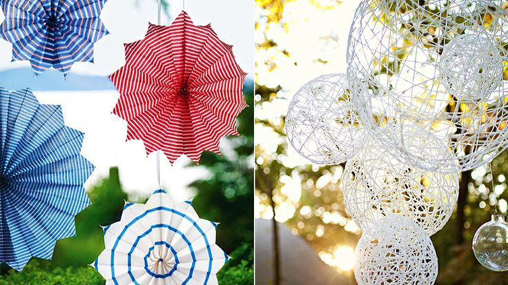 5 Last Minute DIYs for Your Memorial Day Barbecue // Lanterns and Star Medallions: Bbq Diys, Decor Ideas, Minute Diys, Craft Projects, Bid Night, Patriotic Holidays, Easy Chic, Holiday Magic