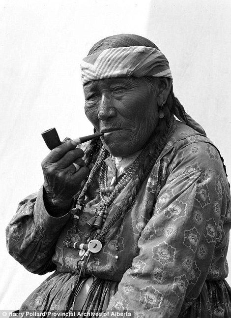 The pipe-smoking Betty Hunter, Nakoda Nation made the list