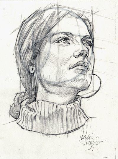 PERSPECTIVE FEMALE HEAD by AbdonJRomero on DeviantArt