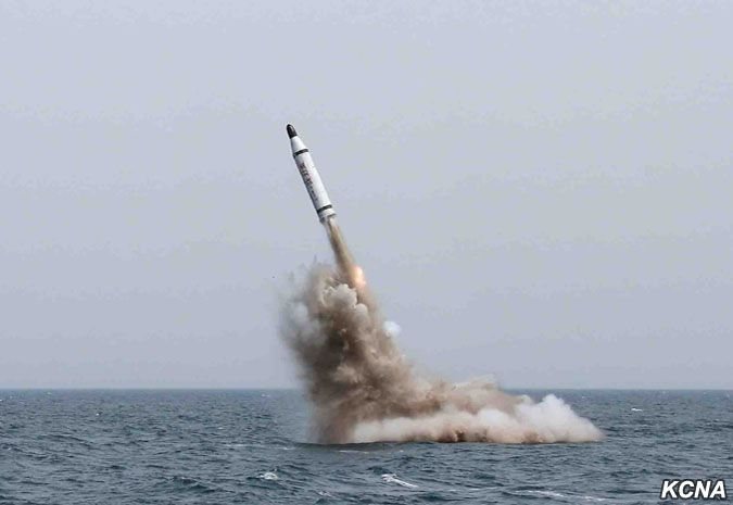 North Korea test-fires underwater ballistic missile