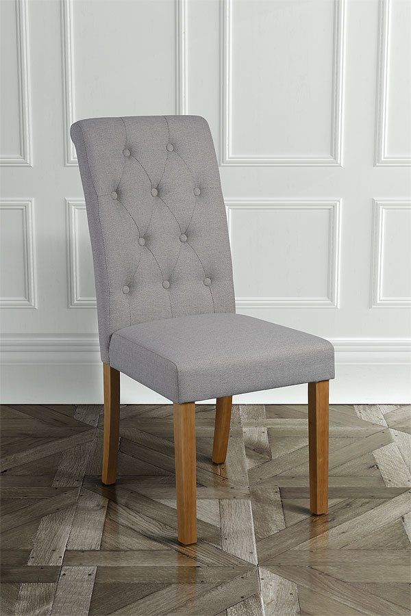 Genoa Herringbone Grey Dining Chair - £64.99