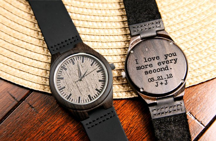 Black wood engraved watch accessories pinterest regalitos y joya for Watches engraved