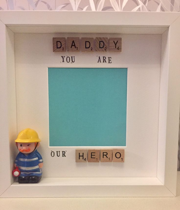 A personal favourite from my Etsy shop https://www.etsy.com/uk/listing/527971943/personalised-daddy-you-are-our-hero