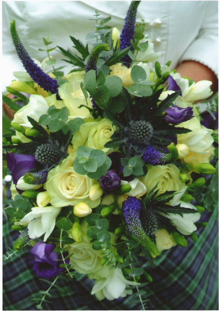 Scottish inspired bridal bouquet
