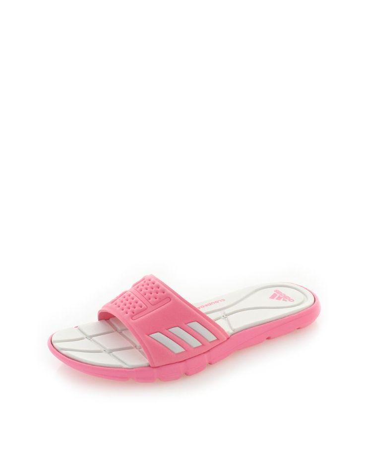 Dámske ružové šľapky Adipure Cloudfoam Slides