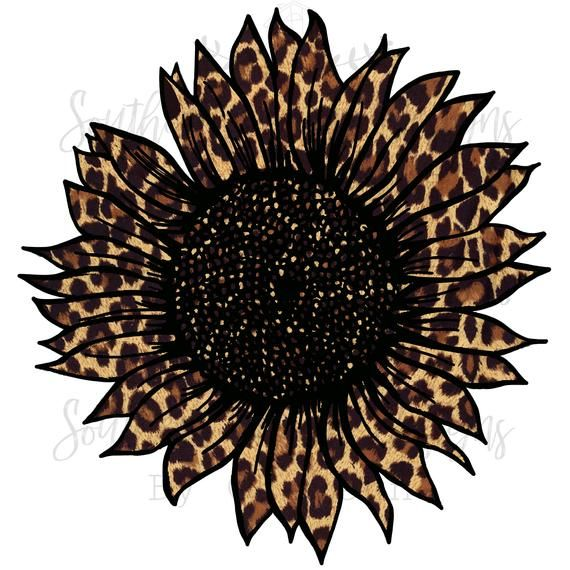 Leopard Cheetah Sunflower Sublimation Png Etsy In 2021 Sunflower Print Pattern Sublime Sunflower