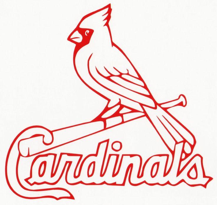 St louis cardinals car window wall vinyl decal bumper sticker mlb baseball logo