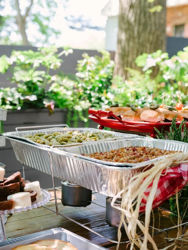 how to host a backyard barbecue wedding shower when it comes to hot food