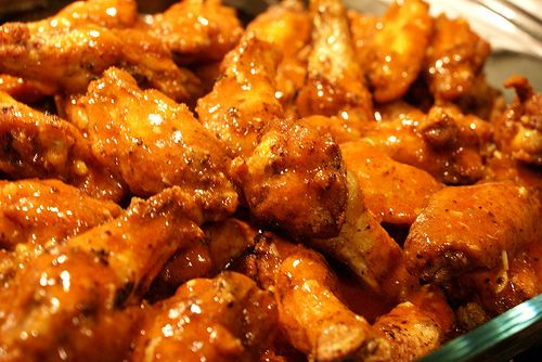 Spicy hot wings is my passion, because i love hot foods, and i lovee wings.