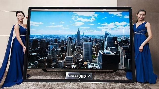 Este hermoso televisor samsung ultra-HD  mide 2.6 metros de ancho por 1.8 de alto Y Es el mas grande del mundo