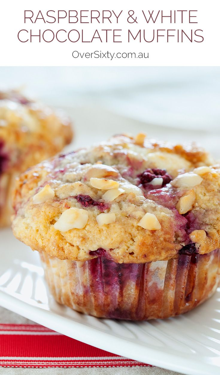 Raspberry & White Chocolate Muffins - this recipe is a sweet treat for any time of the day.