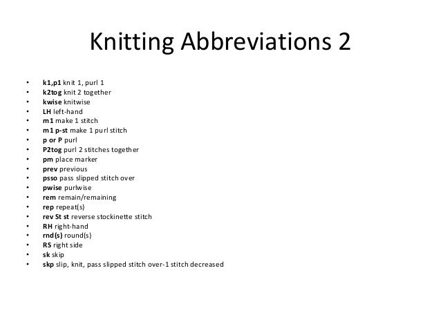 Knitting Abbreviations : ... Knitting: istruzioni Pinterest Knitting Abbreviations, Knitting
