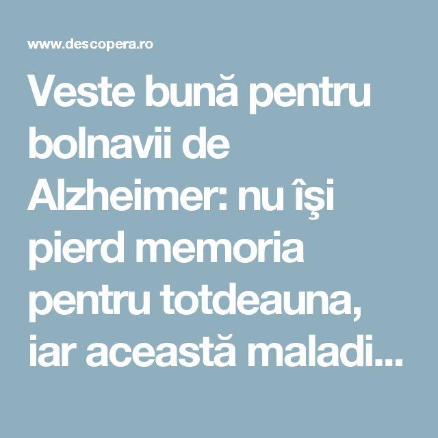 Veste bună pentru bolnavii de Alzheimer: nu îşi pierd memoria pentru totdeauna, iar această maladie poate fi reversibilă