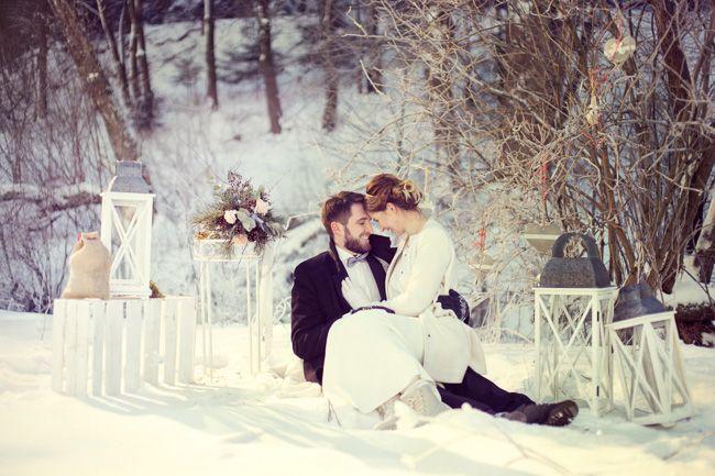 Zimowa sesja ślubna  Więcej na www.tomaszsuszczynski.pl