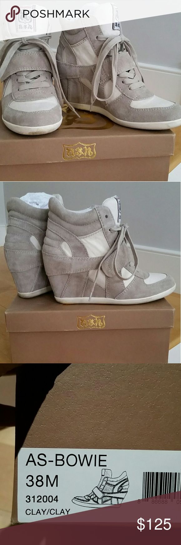 ASH Bowie platform sneaker in Clay color Sassy style! Gently used and in great condition, super comfy  platform sneaker. Original box included Ash Shoes Platforms