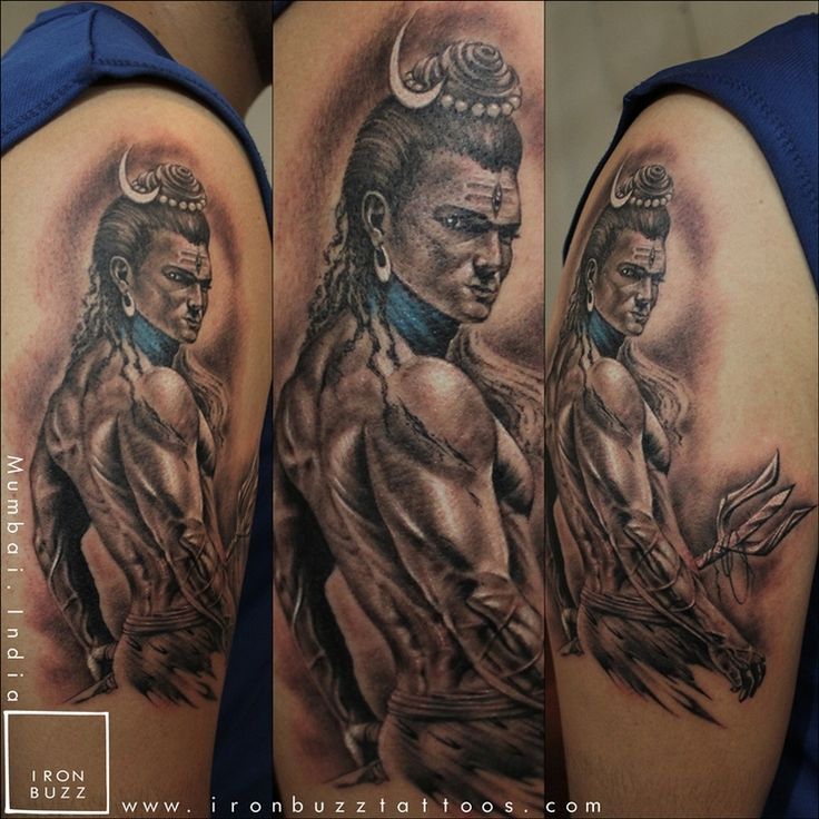Lord Shiva Tattoo 'The Lord is Back' series by Eric Jason D'souza — Iron Buzz Tattoos in Mumbai | Best Tattoo Studio / Artist in India