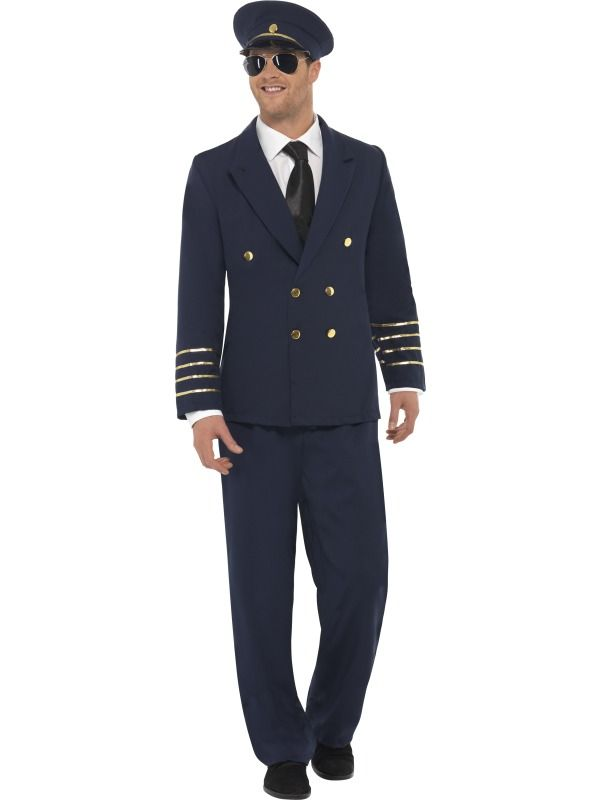 Pilot Costume [SF28621] - £37.99 : Get It On Fancy Dress Superstore, Fancy Dress & Accessories For The Whole Family. http://www.getiton-fancydress.co.uk/adultcostumes/airhostessespilots/pilotcostume#.Us2Dk_u6-RM