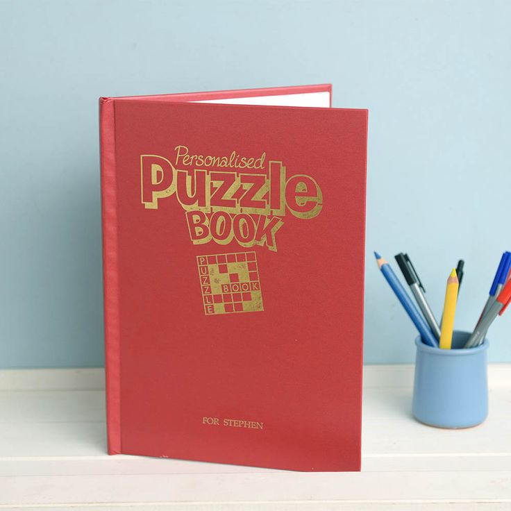 I Just Love It Personalised Puzzle Book Personalised Personalised Puzzle Book - Gift Details. Have they always got a crossword or sudoku on the go? Surprise your puzzle addict with this excellent Personalised Puzzle Book!. Crammed full with http://www.MightGet.com/january-2017-11/i-just-love-it-personalised-puzzle-book.asp